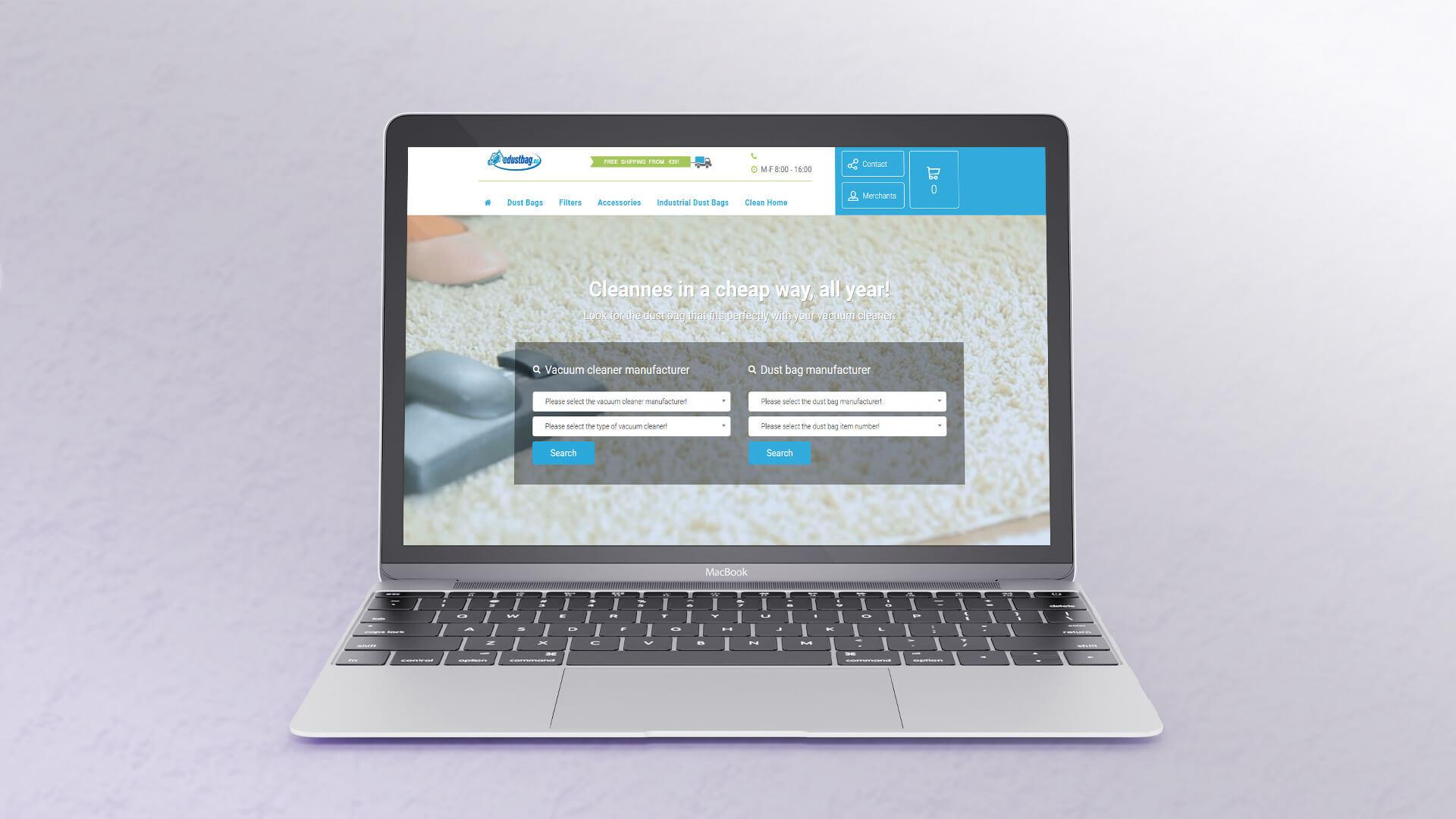 edustbag shopify webáruház