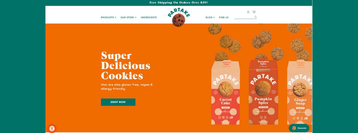 Partake Foods avagy egy inspiráló Shopify webáruház