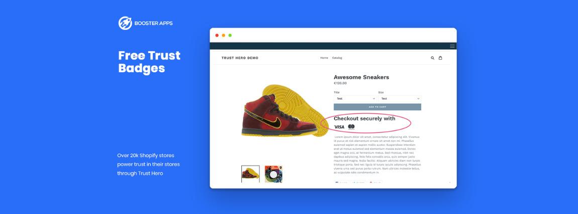 Trust Hero Shopify alkalmazás