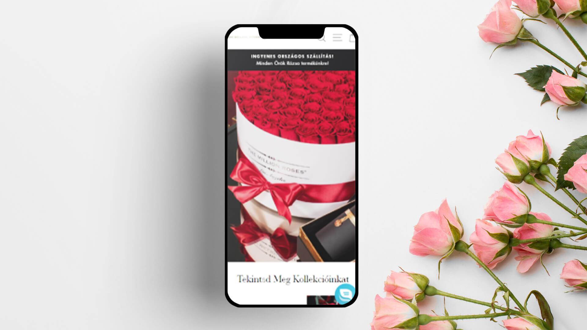 the million roses shopify webáruház