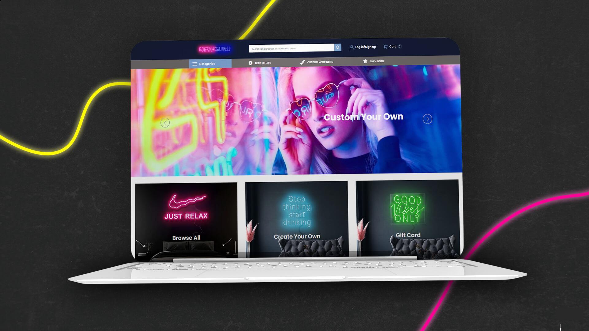 neonguru shopify webáruház