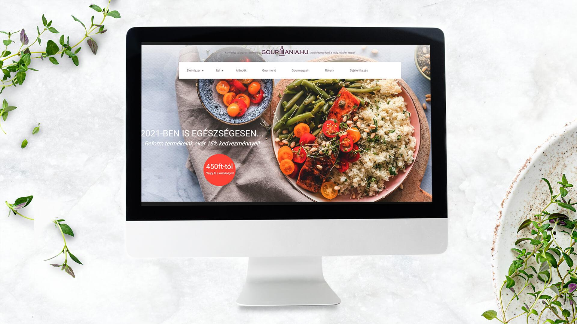 gourmania shopify webáruház
