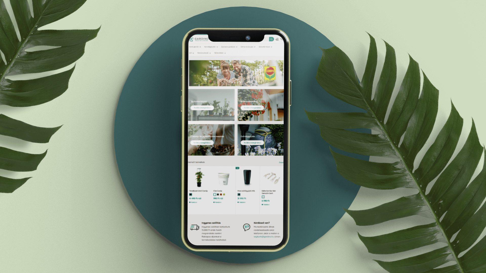 gardino shopify webáruház