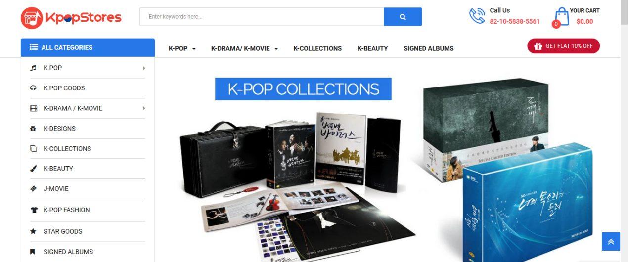 Kpop stores termékkategorizálás