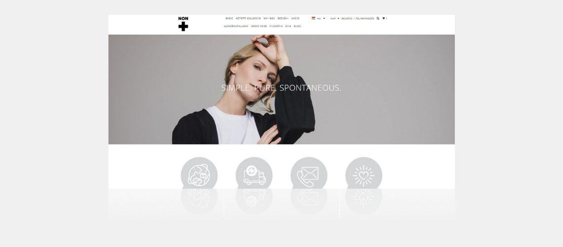 nonplusz shopify webshop