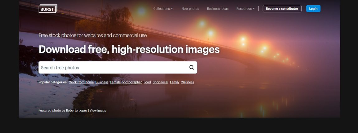 A Burst egy kifejezetten jó lehetőség, amennyiben szeretnél ingyenes és jogtiszta képeket webáruházadba.