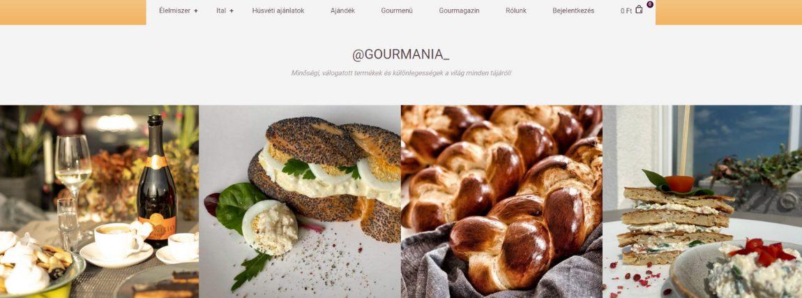 Gourmania felületén található Instafeed