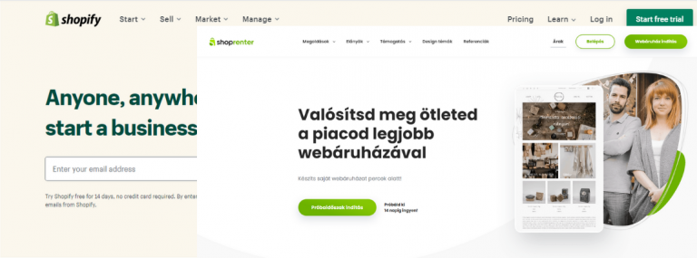 Shopify vagy shoprenter