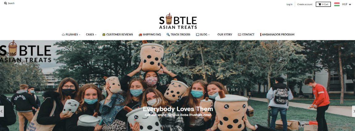 Subtle Asian Treats egy e-kereskedelmi üzleti modellhez