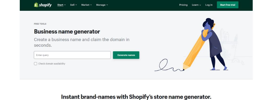 Shopify cégnév-generátor