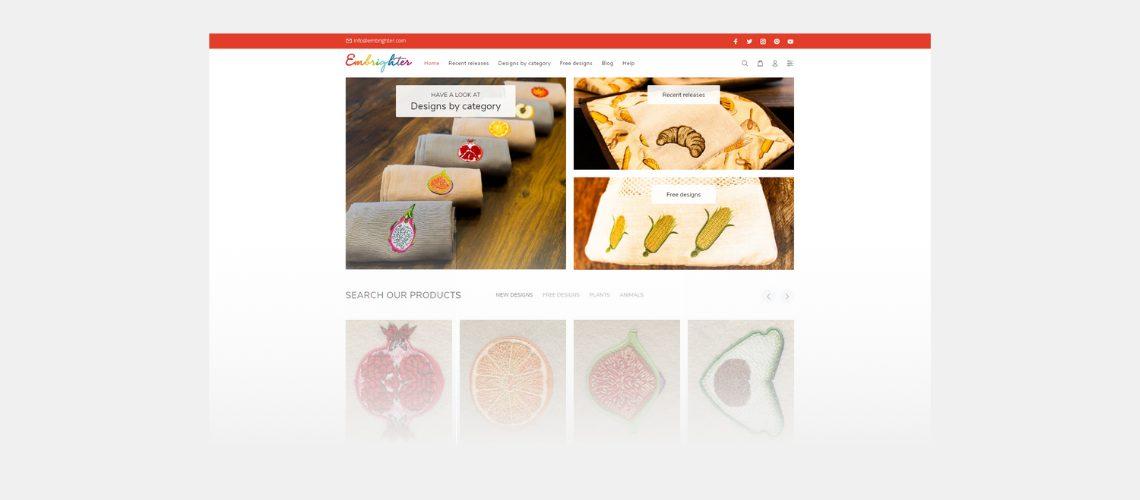 embrighter shopify webáruház